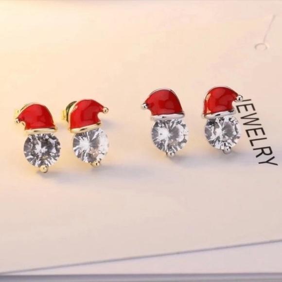 SALE - Santa Hat Stud Earrings